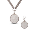 "Sterling Silver 1/10oz Mexican Libertad Coin on Diamond Cut Circle w/ 3 Strand 18"" Chain: 6SSN-0632"