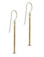 Sleek, Diamond Cut bars lend a cool, minimalist touch as they sway from French Wire Hooks: 13A-3488
