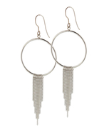 These Sterling Silver Hoop Earrings with Tassels are perfect for any occasion: 13SS-01888