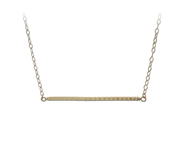 14KT Gold Bar Necklace, trendy, delicate: 6A-2183