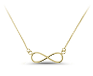14KT Gold infinity symbole necklace, beyond, carry: 6AN-2188